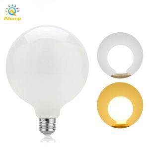 Bombillas LED 5W 7W 9W 12W G80 G95 G125 Luz de la bola lechosa 85-265V E27 E14 Globe Bombilla Lights para la iluminación interior