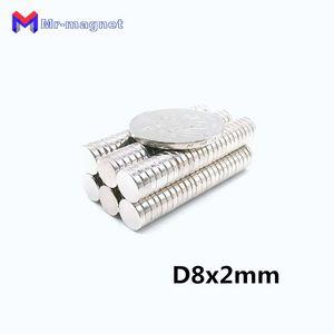 imanes Sale Ndfeb Refrigerator Magnet 100 Pcs 8x2 mm N50 Supper Strong Neodymium Magnets Rare Earth Round Grade Craft Fridge KWM3
