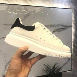 Top Qualität Freizeitschuhe Schwarz Weiß Leder Chaussures Schuh Schöne Plattform Kleid Solide Farben mit Box