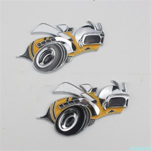 Big Bee Car Sticker For Rear Trunk Logo 3D Badge Auto Parts Emblem Decal Accessories