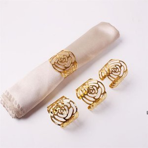 Wedding Napkin Rings Metal Holders For Dinners Party Hotel Table Decoration Supplies Buckle DHE5929