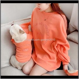 Apparel Winter Matching Clothing Dogs Hoodies French Bulldog For Dog Shirt Clothes Puppy Pet Outfits 201102 Vbeyi Kvxva