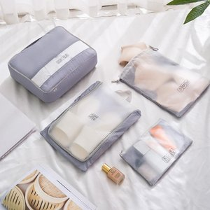 Travel Clothes Storage Bags Waterproof Cosmetic Suitcase Luggage Organizer Sorting For Underwear Suits Shoes Partition Duffel