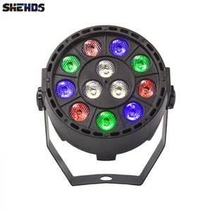 SHEHDS Stage Lights 12x3W RGBW LED Par Lighting With DMX512 For Disco DJ Projector Machine Party Decoration Hotel