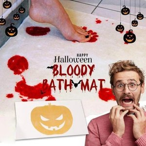 Carpets Bath Mat Halloween Decoration Color Changing Bathroom Blood Foot Pad Scare Bloody Footprint Rug
