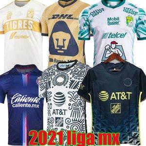 Liga MX 21 22 Club America Soccer Jerseys Leon Third Away الصفحة الرئيسية Camiseta 2021 2022 Camisetas Tigres Unam Chivas Cruz Azul الثالث التدريب قمصان كرة القدم مايوه