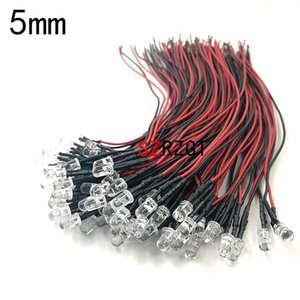 Light Beads 20pcs Lot 20cm Pre Wired 3mm 5mm LED Lamp Bulb Prewired Emitting Diodes For DIY Home Decoration DC12V