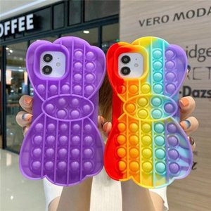 Pop Push it toy Fidget Bubble Silicone Cell Phone Cases For iPhone 7 8 Plus X XR 11 Pro Max 12 mini promax