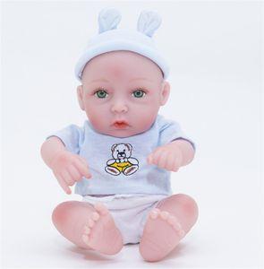 28cm Reborn Baby Dolls Liftlike Soft Full Body Silicone Newborn Boy Look Real Bath Toys Kids Xmas Gift