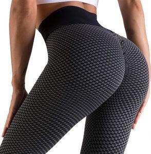 Leggings delle donne sportive da palestra indossano il vestito senza cuciture dell'outfit di fitness Print Patchwork Stampa alta vita elastica push up lunghezza della caviglia Pantaloni di yoga del poliestere