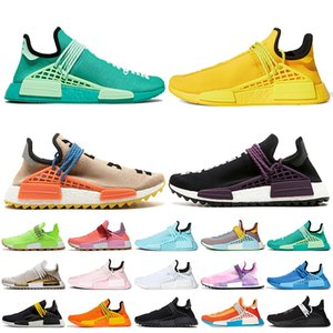 2021 Pharrell Williams Nmd Human Race zapatillas  2019 Pharrell Williams NMD Zapatos de carrera humana Zapatos para correr Igualdad Nerd Negro Nobel Ink Razas humanas