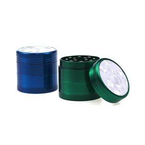 Classic Metal Metal Aleación de zinc Alloy Fumar Herb Grinder Mush Tabaco Hoja Use 63mm con 4 capas 40mm Precio al por mayor