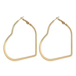 Dreamtop European Big Love Heart Hoop Earrings Jewelry Earring For Women Brincos Sexy Simple Trendy Party Street Earings 154 & Huggie