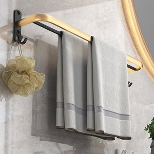 Towel Racks PEISI Wall-Mounted Hanger Rack Hook Home Bathroom Organizer Bar Shelf In The Accessories Set