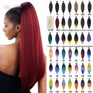 5pcs one lot for One Head Easy Braids Hair 5pcs Ombre Braiding Crochet Hair Extensions 20inch Synthetic 20lots Whoelsale Price