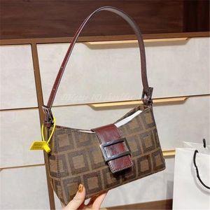 2021 Luxurys Designers Women Bag Famous Vintage F Medium-old Baguette Jacquard Fabric Material Metal Clasp Handbag Shoulder Crossbody Bags Fashion Purse Handbags