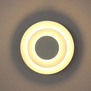 Wall Lamps 5W LED Acrylic Fixture Light Adjustable Chasing The Moon Lamp Black Shell