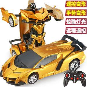 Déformation d'induction Enfants Jouet Robot Robot Télécommande Car King Kong Wireless Racing Boy cadeau
