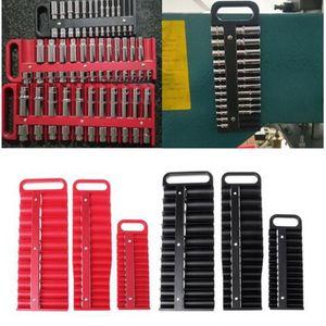 Tool Organizers Magnetic Socket Holder Tray Drive Metric Organizer Rail Rack Toolbox