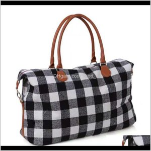 Housekeeping Organization Home Garden Drop Delivery 2021 Buffalo Handbag Red And White Design Duffle Plaid Weekender Bag Check Overnight Stor