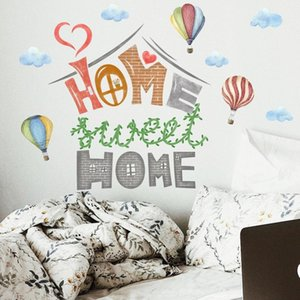 "Creative ""home"" Wall Sticker For Kids Rooms Decoration Baby Bedroom Wallpaper Modern Living Room DIY Art Decal Poster Home Decor Stickers"