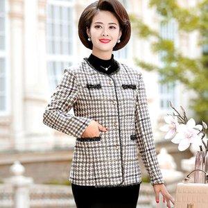 Coats And Jackets Women Coat Winter Autumn Long Sleeve Jacket Mom O-neck Women's