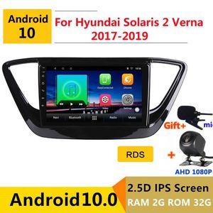 Игрок Android 10 Car DVD Мультимедиа GPS для Solaris 2 Verna 2021 Audio Auto Radio Stereo навигация