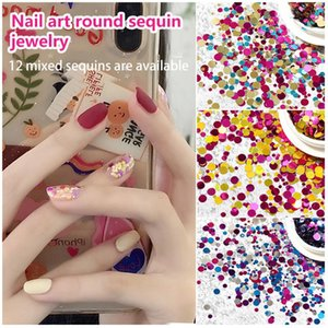 Nail Glitter 1 Box Sequins Mixed Size Color Round Slider For DIY Design Press On Nails Fashion Manicure Art Accessories