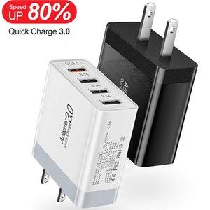 30W 4 USB Порты ЕС US настенное зарядное устройство быстрого зарядки адаптер питания для iPad iPhone 7 8 11 Samsung S11 S20 Android телефона PC