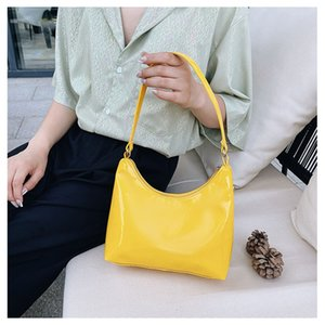 Shoulder Underarm Bag Casual All-matchMessenger bags Purse Pure Color Zipper Mini Messenger bagss Smooth PU New Fashion
