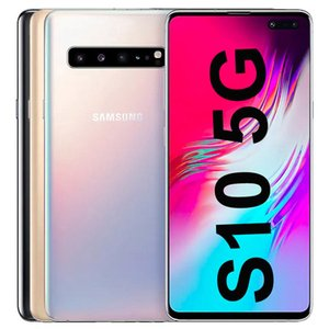 Original Refurbished Samsung Galaxy S10 5G G977B G977U 6.7 inch Octa Core 8GB RAM 256GB ROM NFC Unlocked Smart Cell Phone 30pcs