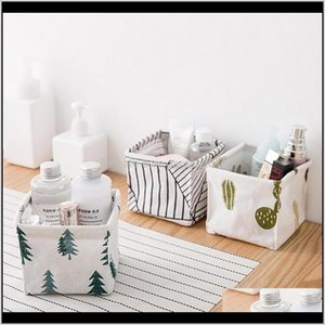 Boxes & Bins Nordic Literary Style Storage Bin Closet Toy Box Container Organizer Fabric Basket Home Office Table Ornaments Year Gift 1Dpzn