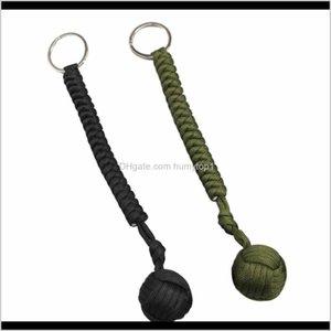 Outdoor Steel Ball Security Protection Bearing Self Defense Rope Lanyard Tool Key Chain Multifunctional Keychain 5Xlpd Crjig