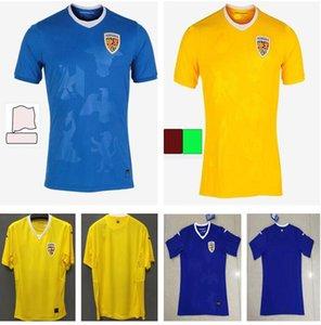 Таиланд 2021 Румыния Футбол Джерси Главная Желтый yellow and Biue 2122 Alexandru Cikedau Ianis Hagi Dennis Marin Men Футбольные рубашки