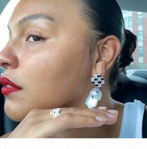 Jiwinaia jewelry fashionable Earrings Baroque natural pearl earrings spider ghost hand painted street net red Earrings female