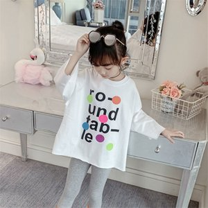 Big Kids Girls T-shirts INS Fashions Summer Printing Tees Short Sleeve Tops 717 X2