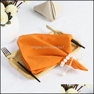 Textiles Home & Gardencloth Napkins, 18 X Inch Solid Washable Polyester Dinner Set Of 6 Napkins With Hemmed Edges, For Weddings, Holiday Tab