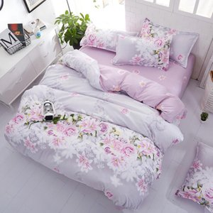 Bedding Sets Fashion Flower Bed Linens Simple Set Bedclothes Duvet Cover Sheet And Pillowcase Queen King Size