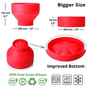 New Popcorn Microwave Silicone Foldable Red High Quality Kitchen Easy Tools DIY Popcorn Bucket Bowl Maker With Lid BWD6608