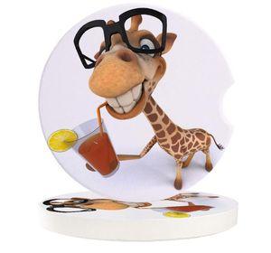 Table Runner Animal Cartoon Giraffe Cup Car Mat Contrast Mug Flower Teacup Pad For Home Decor Accessories