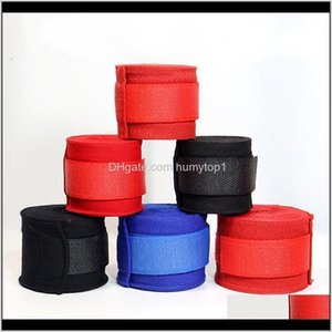 Protective Gear 1Set2Pcs Wraps Punching Hand Wrap Boxing Muay Thai Gloves Training Wrist Protect 2 Colors 150 X2 Butls G6Llp