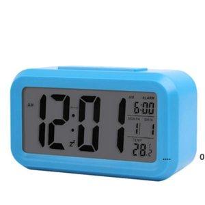 Smart Sensor Nightlight Digital Alarm Clocks with Temperature Thermometer Calendar,Silent Desk Table Clock Bedside Wake Up Snooze FWA4807
