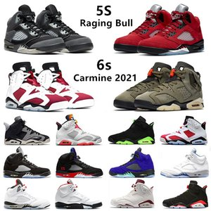 Jumpman retro Raging Bull 5s Carmine 6s zapatillas de baloncesto para hombre Anthracite 5 what the travis scotts 6 Hyper Royal Alternate Grape zapatillas deportivas para hombre