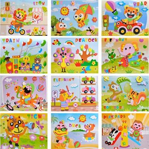 10 шт. 3D EVA пена стикер головоломки игра DIY мультфильм обучение животных образования игрушки для детей детские дети подарок на день рождения 899 y2
