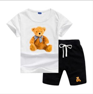 HOT New Luxury Designer Baby Boy's Girl's t-shirt Pants Two-piec 2-7 years olde Suit Kids Brand Children's 2pcs Cotton Clothing Sets G