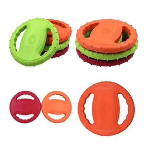PET Dog Training Jouet Chewing Flying Saucer Jouet Dog Dog Interactive Toy Silicone Caoutchouc Fournitures pour animaux de compagnie