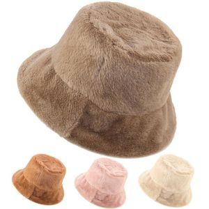 Şapka kadın sonbahar ve kış Kore versiyonu vahşi balıkçı kap eğlence moda peluş pot, soğuk sıcak emek fabrika özel toptan