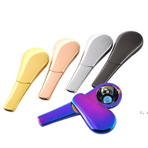 Rainbow Smoking Pipes Metal Magnet Zinc Alloy Magnetic 95mm Length 24mm diameter Tobacco Pipe BWA4755