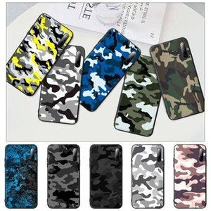 Popolar Camouflage Pattern Camo Black Rubber Mobile Phone Case Cover For Note 6 8 9 Pro Max 9s 8t 7 5A 5 4 4x