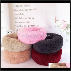Furniture Supplies Home & Garden Drop Delivery 2021 Pet Cat Dog Calming Bed Warm Soft Plush Round Cute Nest Comfortable Sleeping Beds Mats 1